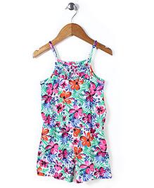 Mothercare Singlet Floral Jumpsuit - Multicolor