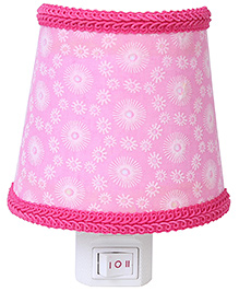 Night Lamp Rose Flowers Print - Pink