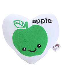 Heart Shape Sponge Apple Print - Green And White