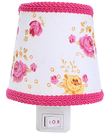Night Lamp Rose Clusters Print - Pink