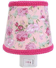 Night Lamp Roses Print - Pink And Peach