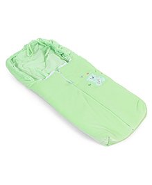Montaly Baby Sleeping Bag Teddy & Duck Embroidery - Green