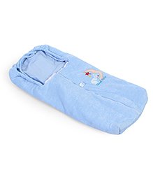 Montaly Baby Sleeping Bag Teddy & Star Embroidery - Blue