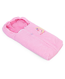 Montaly Baby Sleeping Bag Teddy & Star Embroidery - Pink