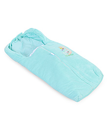 Montaly Baby Sleeping Bag Teddy & Star Embroidery - Green