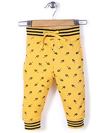 Jute Baby Sun-Glass Print Track Pant - Yellow