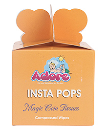 Adore Insta Pops Magic Coin Tissues Compressed Wipes - Pack Of 50