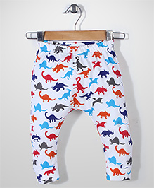 Jute Baby All Over Animal Print Leggings - Off White