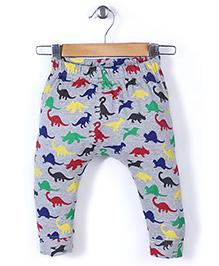 Jute Baby All Over Animal Print Leggings - Grey