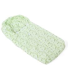 Montaly Baby Sleeping Bag Rainy Day Print - Green