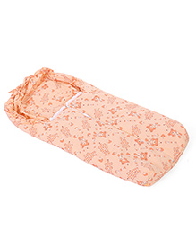 Montaly Baby Sleeping Bag Sweet Bear Print - Orange