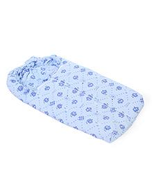 Montaly Baby Sleeping Bag Bear Print - Blue