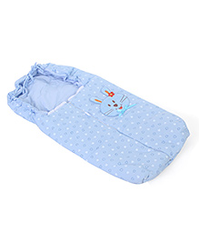 Montaly Baby Sleeping Bag Bunny Embroidery - Blue