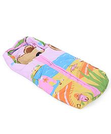 Montaly Baby Sleeping Bag Sea Life Print - Pink & Multicolor