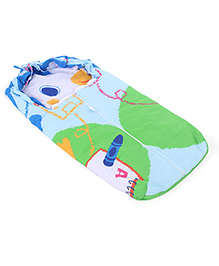 Montaly Baby Sleeping Bag Mouse Print - Blue & Multicolor