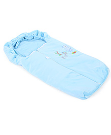 Montaly Baby Sleeping Bag Good Night Embroidery - Blue