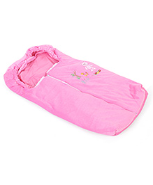 Montaly Baby Sleeping Bag Good Night Embroidery - Pink