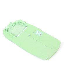 Montaly Baby Sleeping Bag Good Night Embroidery - Green