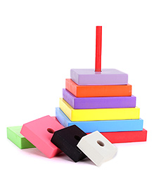 Anindita Toys Stacking Square Towers - 9 Pieces