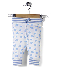 Jute Baby Cloud Print Track Pant - Off White