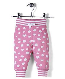 Jute Baby Cloud Print Track Pant - Pink
