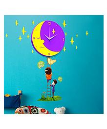 EZ Life DIY Munchkin Moon Clock Set - Violet & Yellow