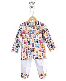 Frangipani Kids Traffic Jam Nightwear Set - Multicolour