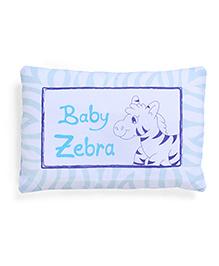 Frilled Rectangular Baby Pillow Baby Zebra Print - Blue And White