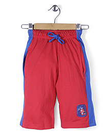 Taeko Three Fourth Pant Logo Patch - Red