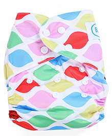 Babyhug Free Size Reusable Cloth Diaper With Insert Leaf Print - Multicolor