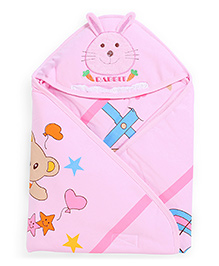 Montaly Baby Sleeping Bag Bunny Print -Pink