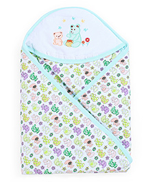 Montaly Baby Sleeping Bag Cute Bears Print - Green