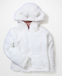 Mothercare Hooded Jacket - Off White