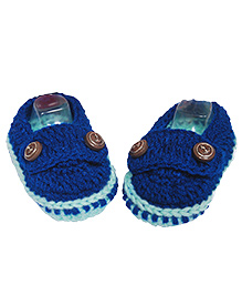 The Original Knit Loafers Booties - Blue