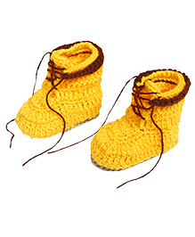 The Original Knit Knitted Booties - Yellow