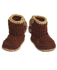 The Original Knit Knitted Booties - Brown