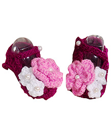 The Original Knit Mary Jane Booties - Purple