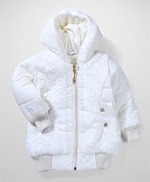 Babyhug Quilted Jacket - White