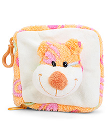 Play N Pets Monkey Applique CD Case - Orange And White