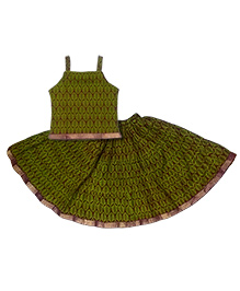 Kidcetra Traditional Lehenga Choli Set - Green