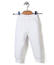 Babyhug Full Length Thermal Leggings - White