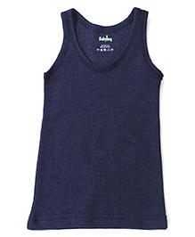 Babyhug Sleeveless Thermal Vest - Navy Blue