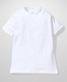 Babyhug Half Sleeves Thermal Vest - White