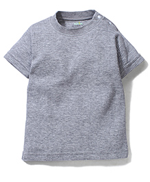 Babyhug Half Sleeves Thermal Vest - Grey