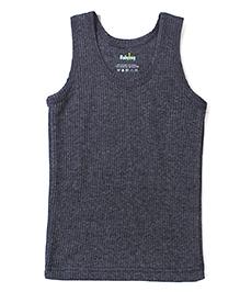 Babyhug Sleeveless Thermal Vest - Melange Grey