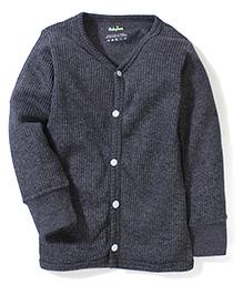 Babyhug Full Sleeves Thermal Vest - Melange Grey