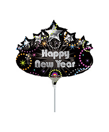 Planet Jashn Happy New Year Marquee Air Filled Balloon - Multi Color