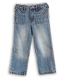 Liliput Kids Full Length Rugged Straight Fit Jeans - Blue