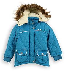 Lilliput Kids Full Sleeves Hooded Jacket - Cobalt Blue