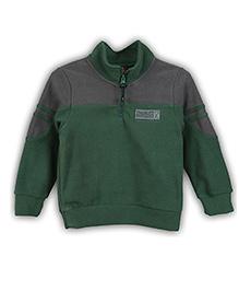 Lilliput Kids Full Sleeves Jacket Logo Embroidery - Green